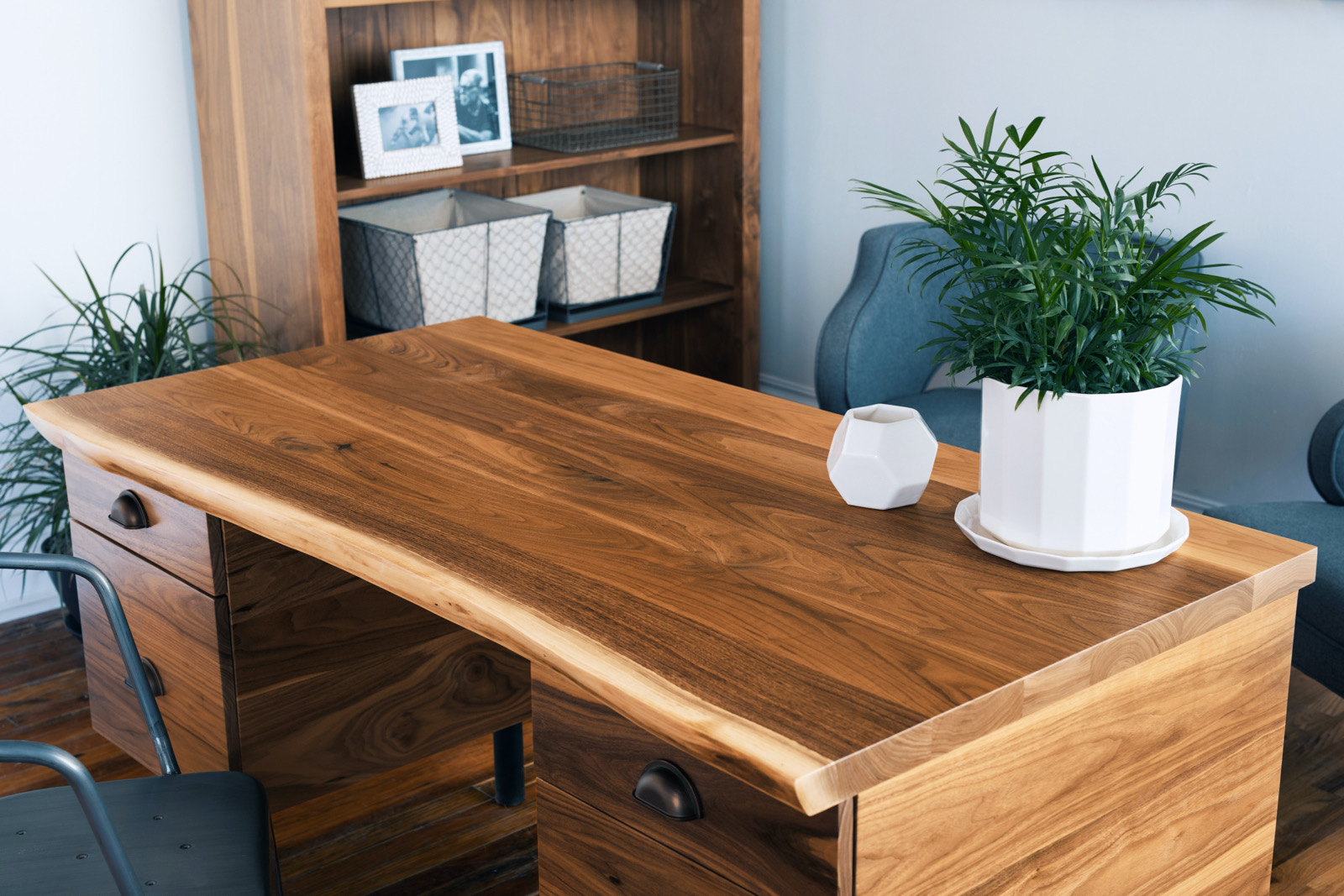 Image of: Mid Century Desk Modern Industrial Style Desks In Home Office Furniture