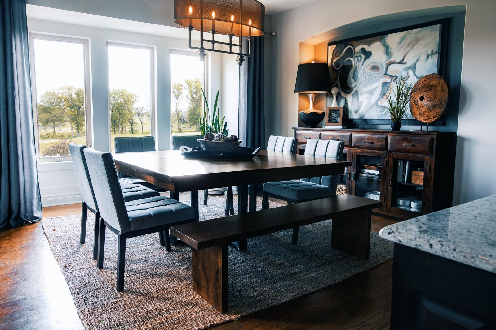 Matching wood furniture