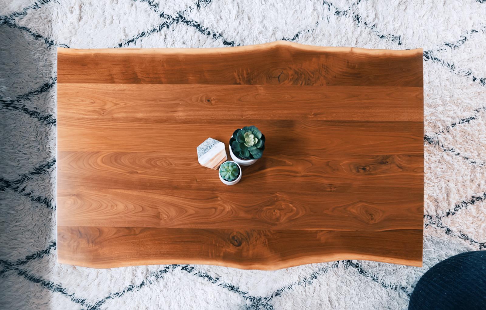 Wood furniture coffee table
