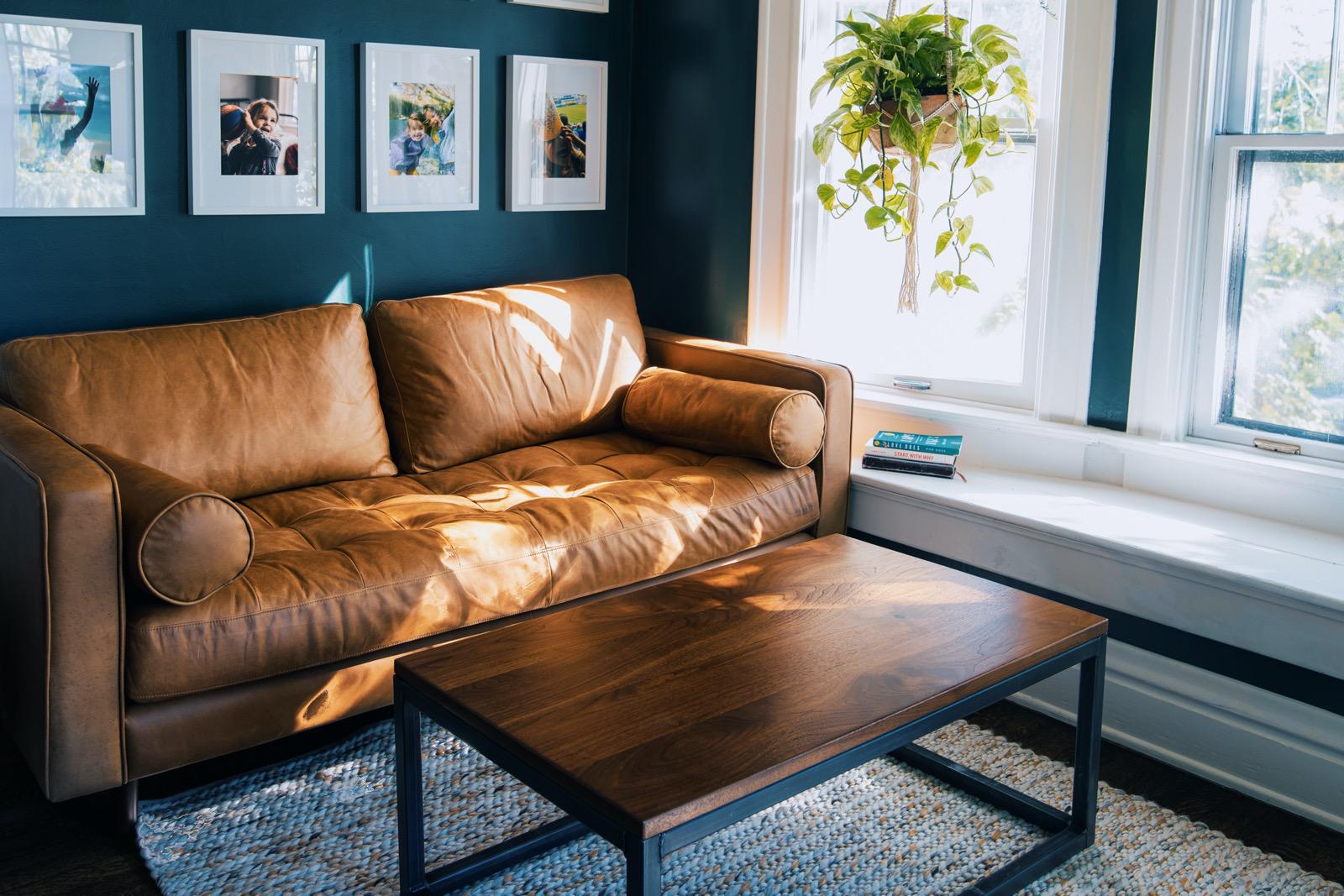 Durham Coffee Table   Modern Metal Coffee Table in Living Room Furniture
