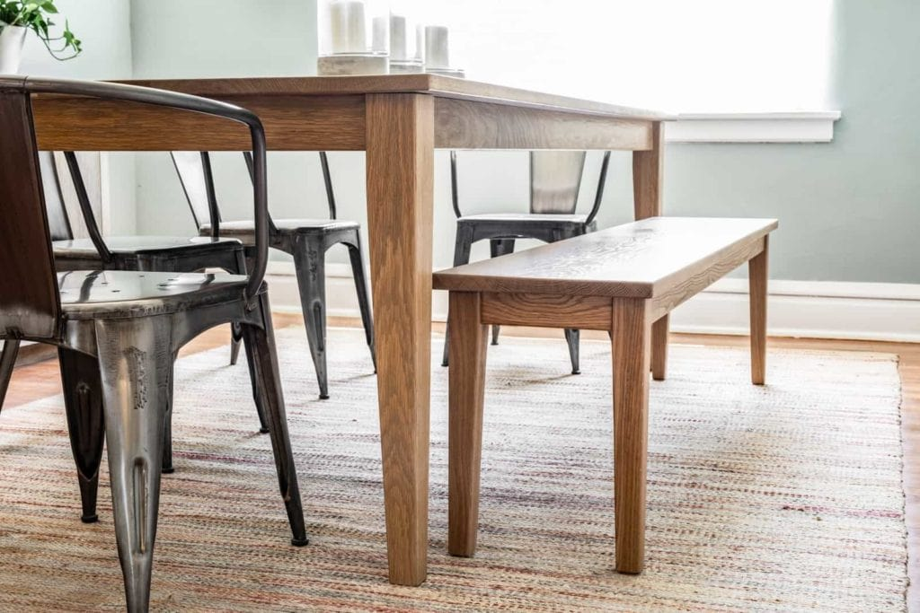 The Colby Table with Benches and Chairs