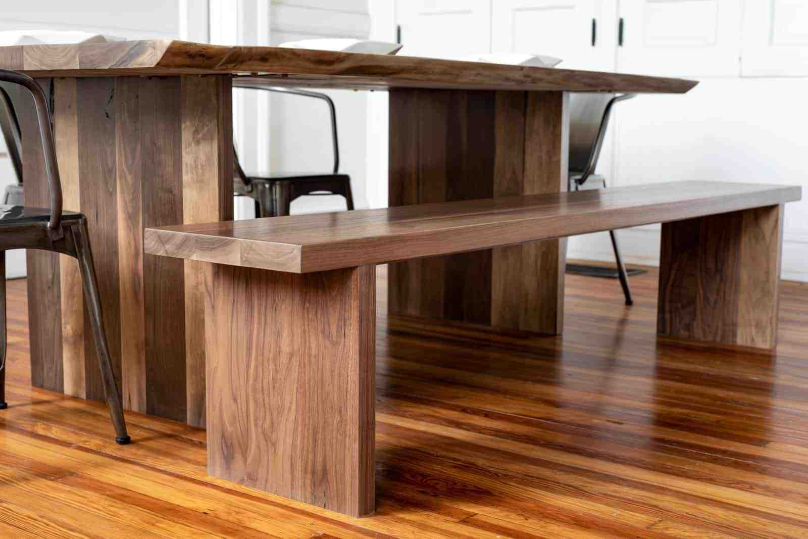 A Coleson Bench gives more dining space per person