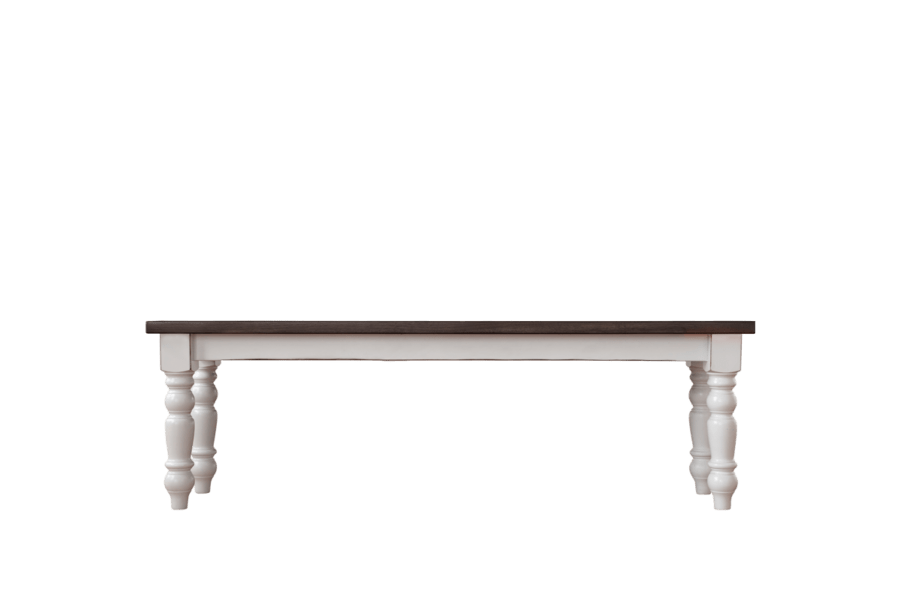 Handcrafted Spindle Leg Bench | Bench Only