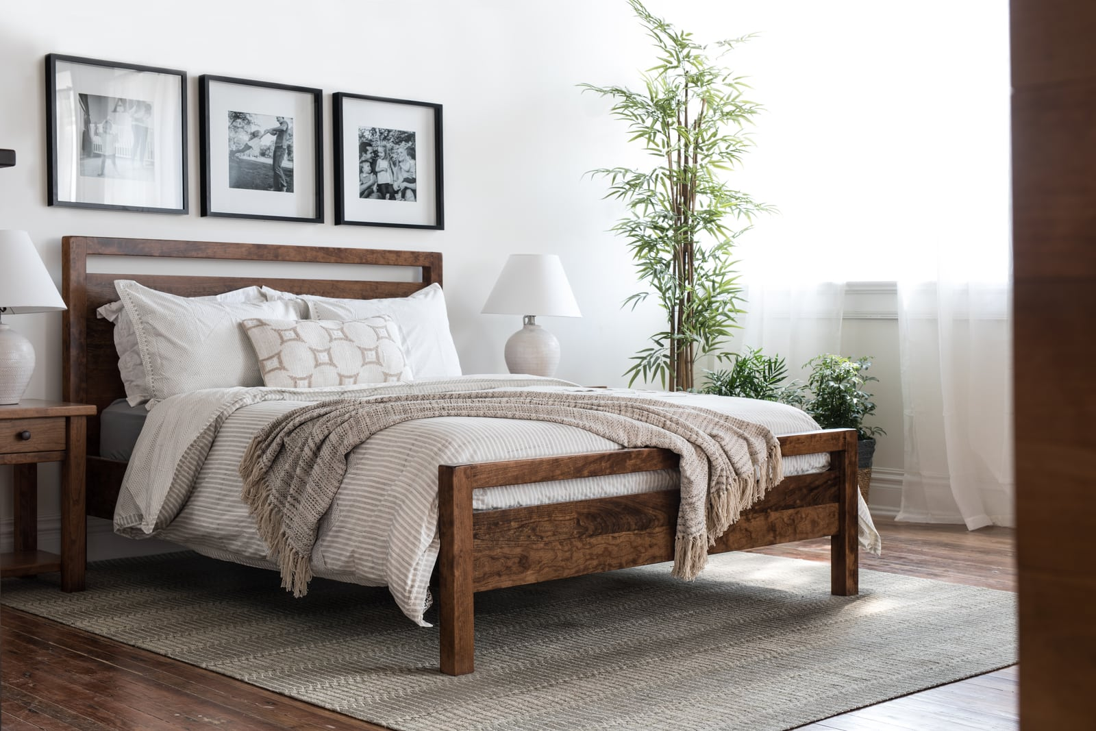 The Denton Bed by Unruh in a Dallas craftsman home