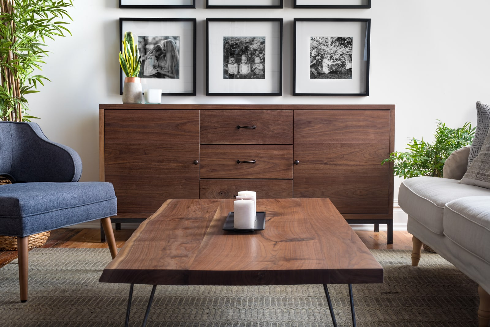Unruh's Dufare Sideboard completes a Dallas living room