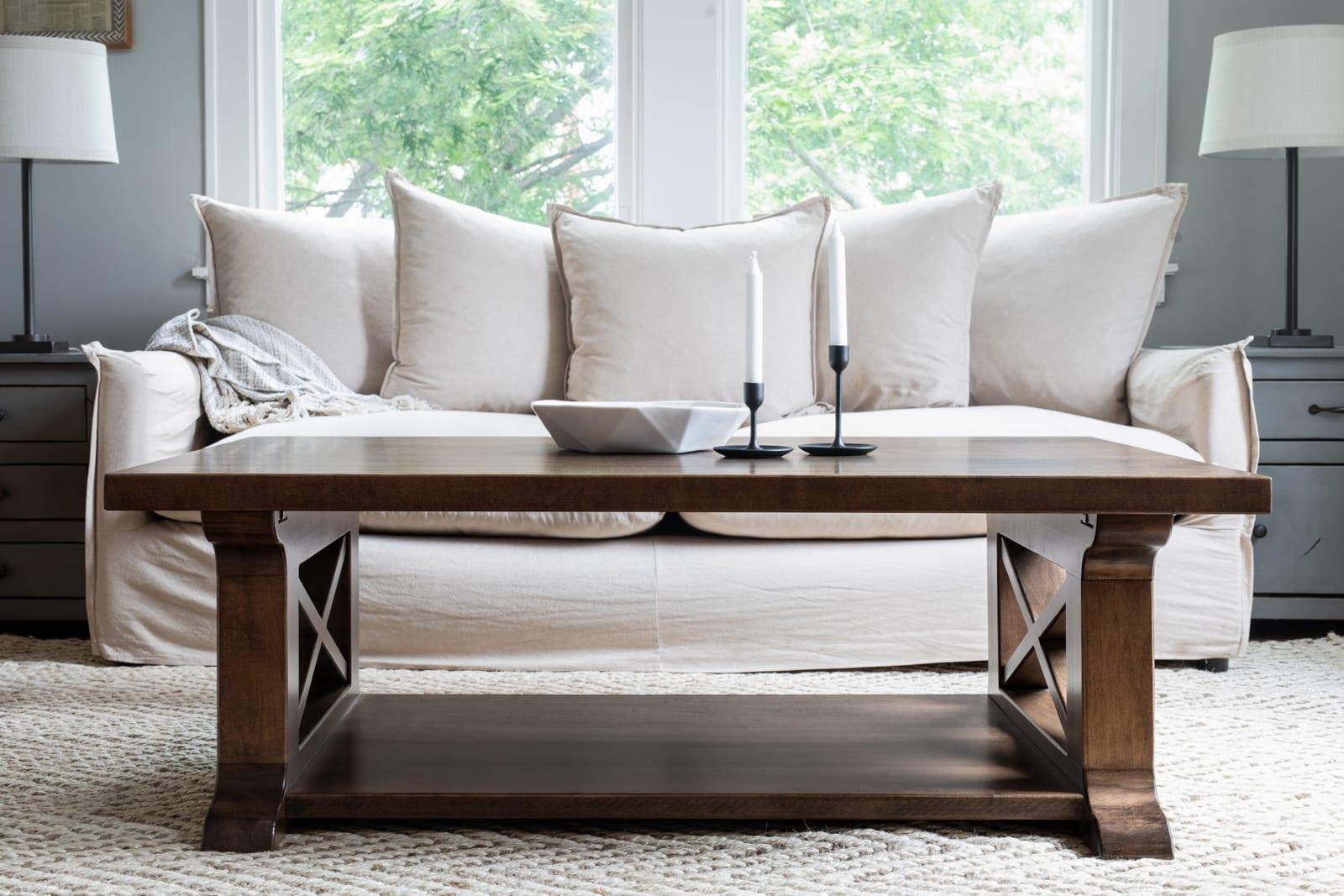 farmhouse coffee table  oldfarm rustic style living room