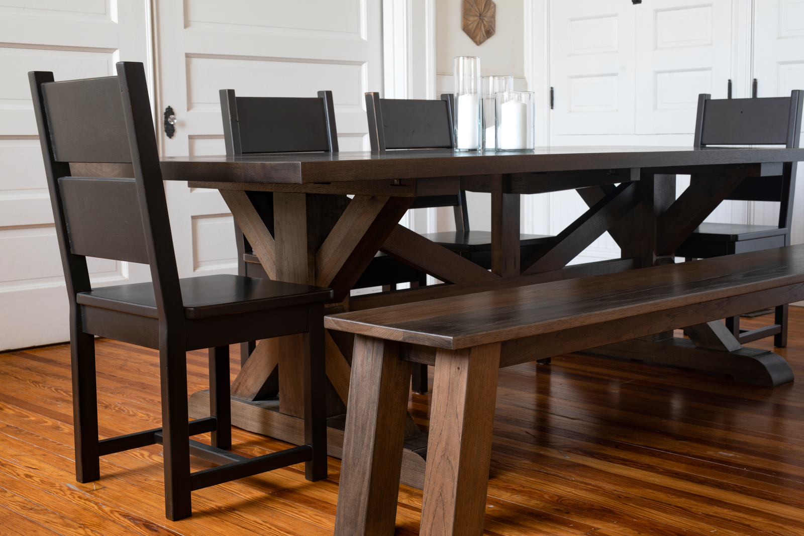 Sawyer Table Pedestal Dining Room Tables In Riverside