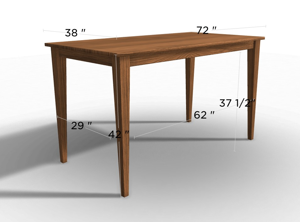Our Colby Table at 42 Inches Tall